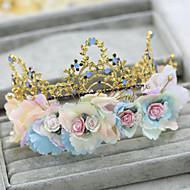 Elegant Flowers Wedding/Party Bridal Headpieces/Wreaths with Rhinestones