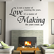 영어 단어를 만드는 벽 스티커 벽 데칼 스타일의 사랑&PVC 벽에 스티커를 인용