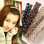 Forme de clip Accessoires pour cheveux Strass Noir Marron Violet Gris Blanc Bleu Rose Perruques Accessoires Pour femme
