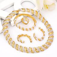 Conjunto de jóias Sem Pedra Dourado Mulheres