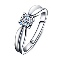 925 Sterling Silver Women Jewelry High Quality Classic Cubic Zirconia Setting Ring Perfect Gift For Girls