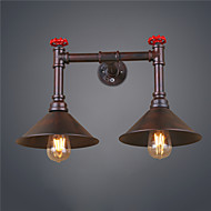 Vintage Retro Pipe 2-light Wall Sconces Mini Style Rustic Metal Wall lamp