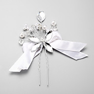 Women's Crystal / Alloy / Imitation Pearl / Polyester Headpiece - Wedding / Special Occasion Hair Pin 1 Piece
