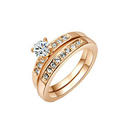 Women's Alloy Ring Cubic Zirconia Alloy Both for Women