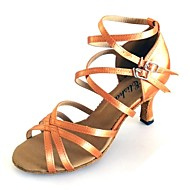 Customized Women's Latin Sandals Customized Heel Double Strap Dance Shoes More Colors