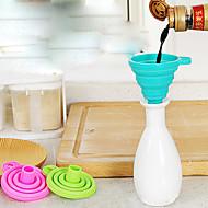bærbar silikone tragt tilfældig farve