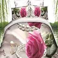 Květinový Polybavlna 4 kusy Povlečení