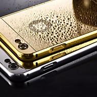 iPhone 5 / 5S用金属フレーム電話ケースバックミラーをメッキ(アソートカラー)