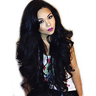 "Unprocessed 10""-24"" Virgin Brazilian Human Hair Natural Color Wavy 150% Density Lace Front Human Hair Wig"