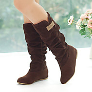 Women's Shoes Flat Heel Round Toe All Match Boots Casual Black / Brown / Yellow