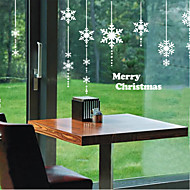 Window Stickers Window Decals Style New year Snowflakes Window Glass Decoration PVC Window stickers