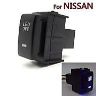 dedikerad 12v bil dimma strömbrytare varselljus byter användning för Nissan Qashqai juke Tiida Almera