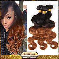 """1pcs / lot 10 """"-24"""" unverarbeitete malaysisches reines Haar mit zwei Tönen 1b / 30 ombre Körperwellenmenschenhaar-Webart"""