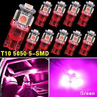 10 PCS NEW Pink Wedge T10 5050-SMD LED Light bulbs W5W 2825 158 192 168 194 12V