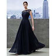 Formal Evening / Black Tie Gala Dress A-line Bateau Floor-length Georgette