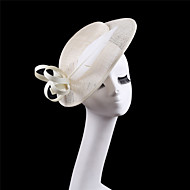 Ivory Wedding Party Sinamay Feather Headband Fascinator Cocktail Hat