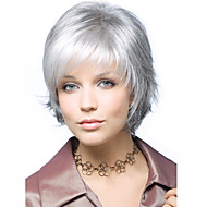 Gray Short  Syntheic Hair Wig Extensions Individuation