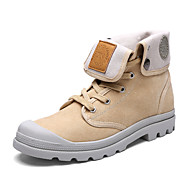 Men's Shoes Outdoor / Athletic / Casual Canvas Boots Black / Gray / Beige