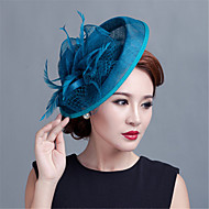 Wedding Party Sinamay Feather Fascinators Hats Church hat