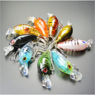 "9 pcs Hard Bait / Fishing Lures Crank Multicolored 4 g/1/8 oz. Ounce,45 mm/1-3/4"" inch,Hard PlasticSea Fishing / General Fishing /"