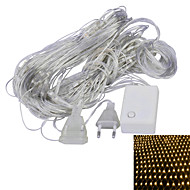 JIAWEN® 1.5x1.5M 4W 96-LED 8-Mode Warm White / Purple Light Ornamental Net Lights (EU Plug , AC 220V)