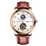 GUANQIN® Men Luxury Top Grade Automatic Self-wind Diamond Watch Sapphire Crystal Sport Hollow with Moon Phase Wrist Watch Cool Watch With Watch Box