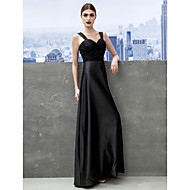 Formal Evening / Black Tie Gala Dress Sheath / Column Sweetheart Floor-length Satin / Tulle with Ruching