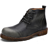 Men's Shoes Outdoor / Party & Evening / Casual Leather Boots Brown / Gray