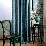 Two Panel Country Circle Spot Printed Cotton Energy Saving Curtains Drapes