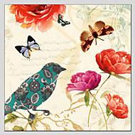 מצויר ביד בעלי חייםמודרני / קלאסי / מסורתי / סגנון ארופאי פנל אחד בד ציור שמן צבוע-Hang For קישוט הבית