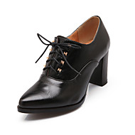 Women's Shoes Chunky Heel Comfort / Pointed Toe Oxfords Outdoor / Office & Career / Dress Black / Brown / Beige