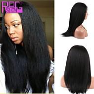 vendita caldo vergine diritta brasiliana merletto dei capelli umani parrucca anteriore viziosa con 10-26inch capelli del bambino in azione