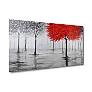håndmalede olie maleri på lærred væg kunst abstrakt contempory træer skov grå et panel klar til at hænge