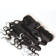 """1 YR Warranty Remy Brazilian Virgin Hair Lace Frontal 13""""*2"""" Body Wave Lace Frontal Hair Pieces 8""""-20"""""""