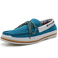 Men's Shoes Outdoor / Athletic / Casual Suede Boat Shoes Blue / Gray