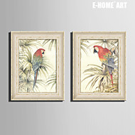 Animal Toile Encadrée / Set de Cadres 50cmX70cm(20inchx28inch)X1pcs Wall Art , PVC