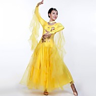 Ballroom Dance Outfits Women's Performance  2 Pieces Blue / Green / Pink / Yellow / Lake Blue