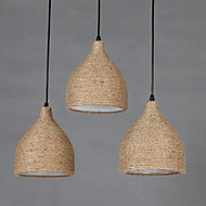 Luzes Pingente ,  Contemprâneo Tradicional/Clássico Rústico/Campestre Vintage Outros Característica for LED ResinaSala de Estar Quarto