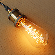 e27 fio ST64 torno 40w 220v-240v edison retro lâmpadas decorativas