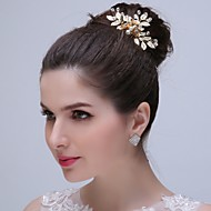 Women's / Flower Girl's Alloy Headpiece - Wedding / Special Occasion / Casual / Outdoor Hand made Hair Combs 1 Piece