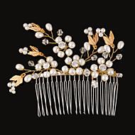 Vintage Charming Design Wedding Bride Handmake Headband Pearls Combs Hair Accessior Flower Gold