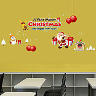 Wall Stickers Wall Decals, Merry Christmas Snow Santa PVC Wall Stickers