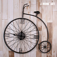 E-HOME® Bicycle Style Metal Wall Clock One Pcs