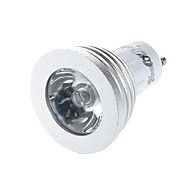 3W E14 / GU10 תאורת ספוט לד G50 1 לד בכוח גבוה 260 lm RGB עובד עם שלט רחוק / דקורטיבי AC 220-240 / AC 110-130 V חלק 1