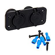 CARCHET Dual Car Cigarette Lighter Power Plug Socket Charger with 4 USB Port