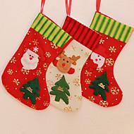 """3ks / set 30cm / 2 """"Veselé Vánoce punčochy vánoční strom dekorace sněhulák Santa Claus soby"""