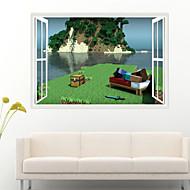 Yılbaşı / Karton / Romantizm / Moda / Tatil / Manzara / Şekiller / İnsanlar / 3D Duvar Etiketler 3D Duvar Çıkartması , PVC70cm x 50cm (