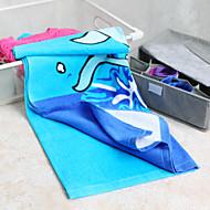 Strandhåndkle Blå Høy kvalitet 100% Bomull Håndkle