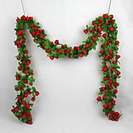 1 X Artificial Rose Silk Flower Green Leaf Vine Garland Home Wall Party Decor Wedding Decal
