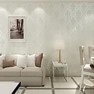 Floral Papel de parede Contemporâneo Revestimento de paredes , Papel não tecido Phantom Soundproof Non-Woven 3D Wallpaper